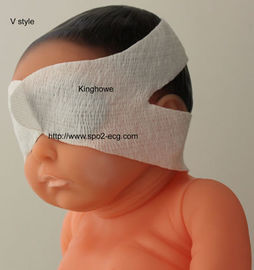 China Nonwoven Fabric Eye Protection Mask V Style Infant Baby Products Blue And White Color supplier