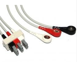 China TPU Philips ECG Cables / Lead Shielded Cable 3.6 Metre For All AA- Plug System supplier