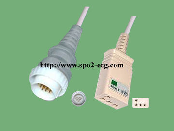 China Durable NEC 3 Lead Ecg Cable 16 Pin With Accurate Measurement Insulated Type supplier