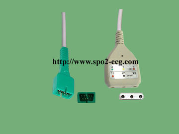 China One Piece ECG Lead Cable Reusable TPU Material With DB9M / MD6M Model factory