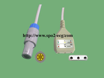 China Creative / Spurt ECG Lead Cable , TPU Medical Lead Shielded Cable factory