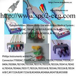 TPU Philips ECG Cables / Lead Shielded Cable 3.6 Metre For All AA- Plug System