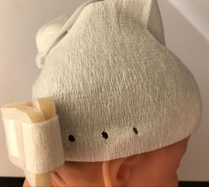 Nonwoven Fabric Infant Baby Hats Absorb Sweat For Head Protection